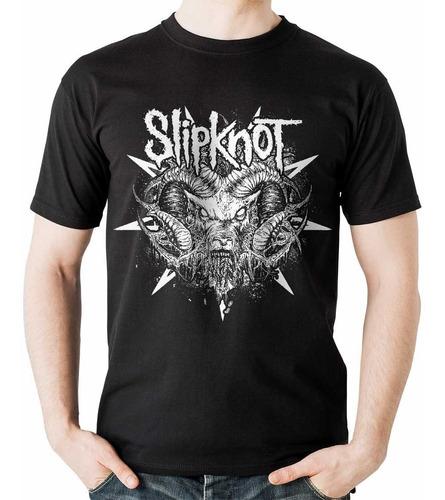 camiseta slipknot cabra gusano rock activity