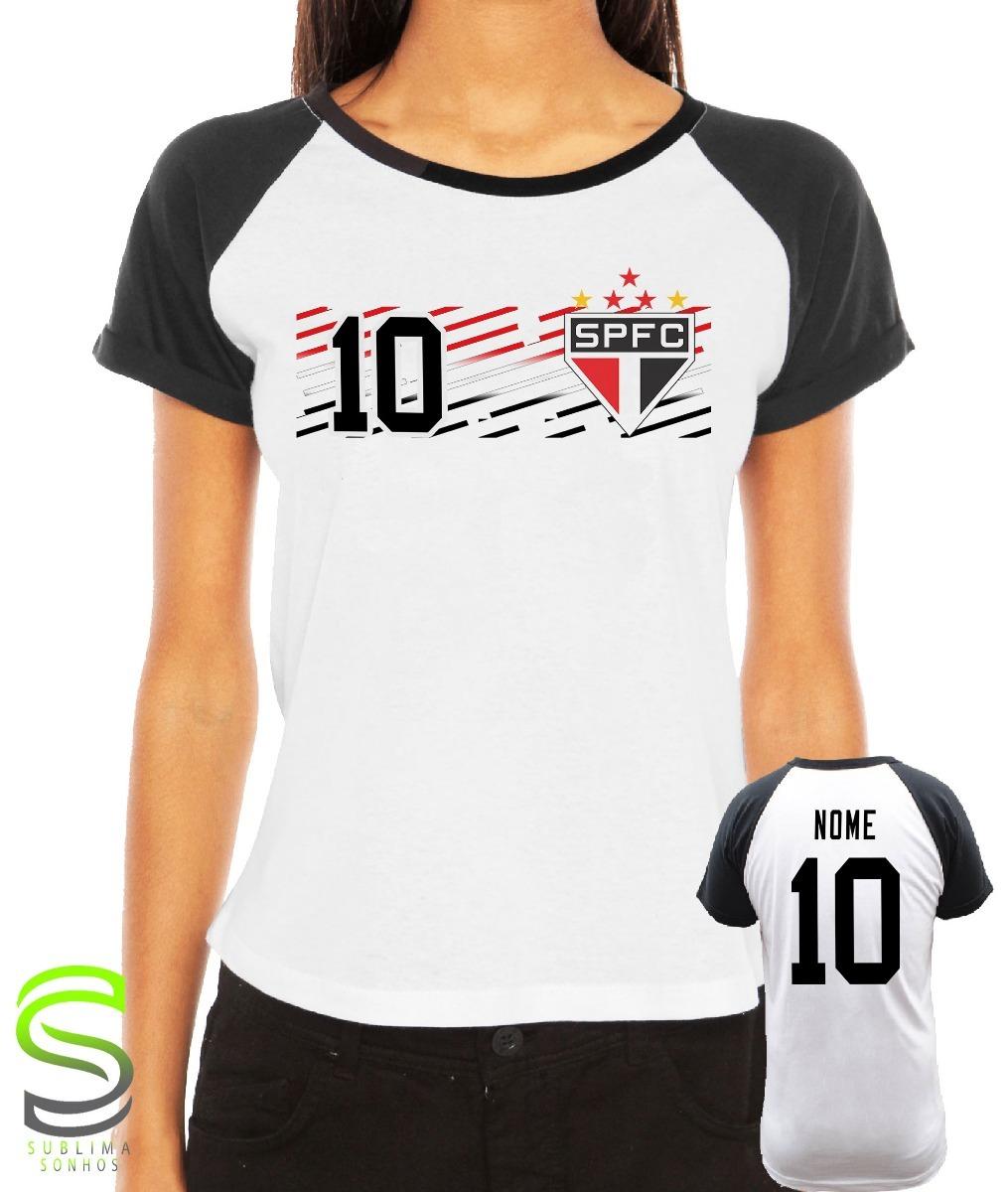 a4c4fecd4 camiseta são paulo feminina personalizada. Carregando zoom.