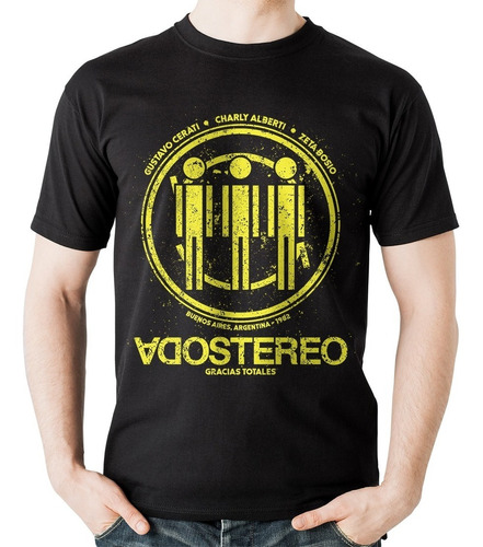 camiseta soda stereo gracias totales rock activity