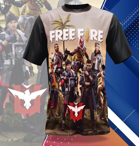 camiseta sonic freefire minecraft roblox fortnite free fire