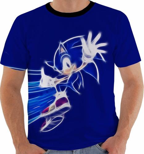 camiseta sonic - sega - games m176