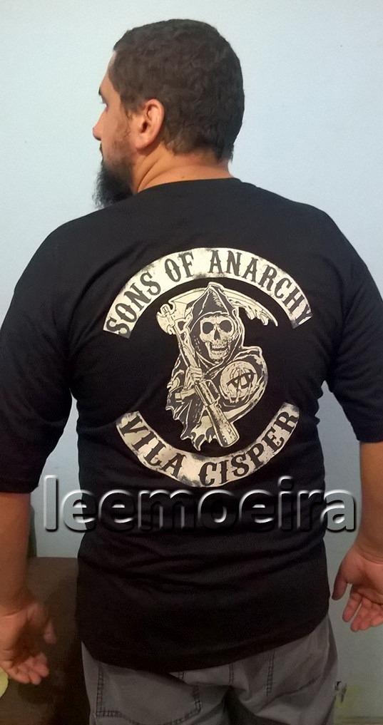 8208475d57425 Camiseta Sons Of Anarchy - Filhos Da Anarquia - - R$ 40,00 em ...