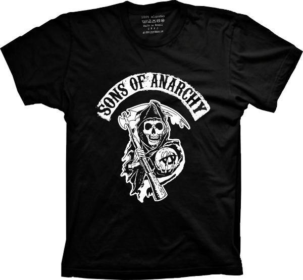 98c89744ab349 Camiseta Sons Of Anarchy - Filhos Da Anarquia - Samcro - Soa - R$ 59 ...