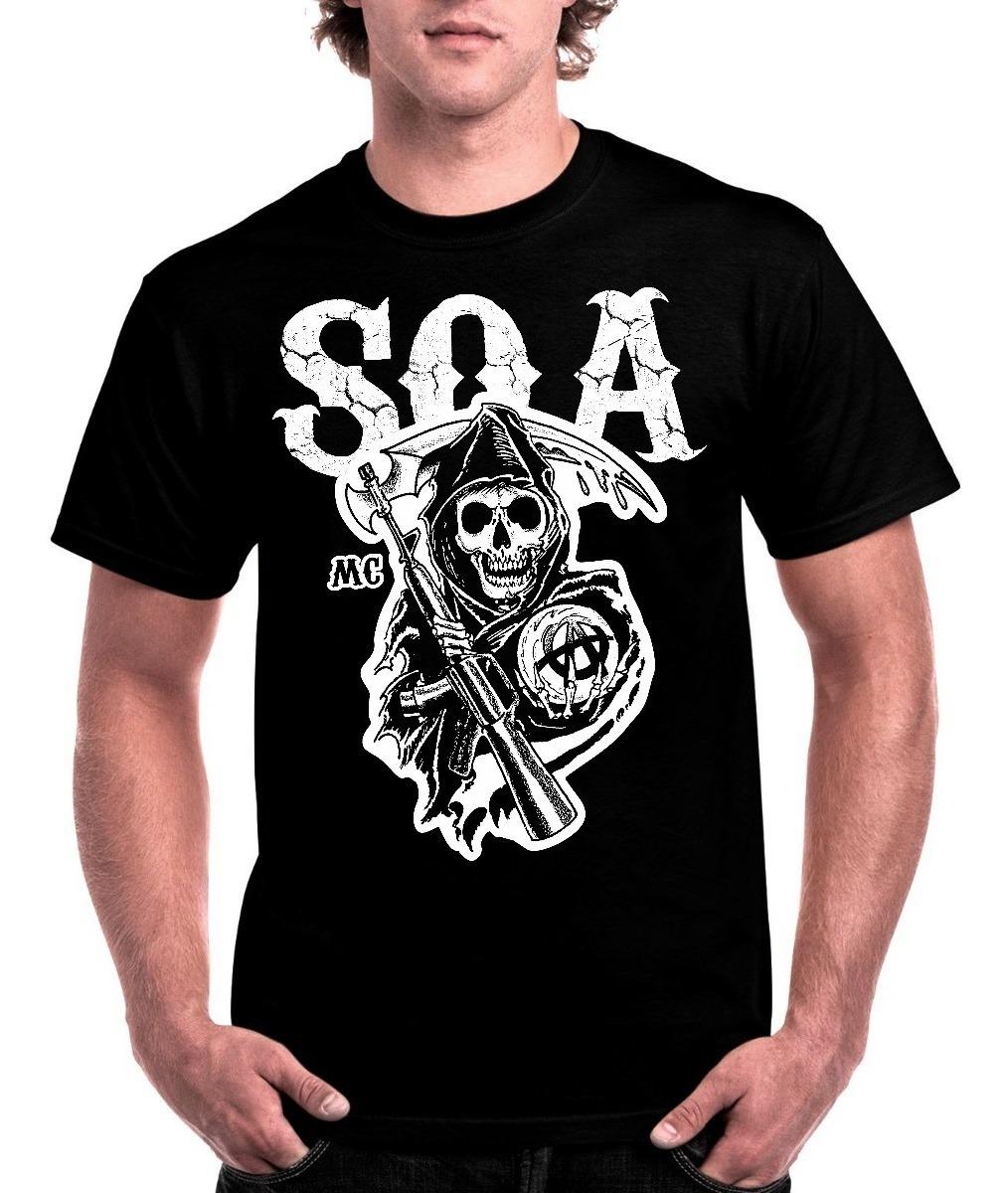 e5bdad55dd6d0 camiseta sons of anarchy filhos da anarquia soa samcro s04. Carregando zoom.