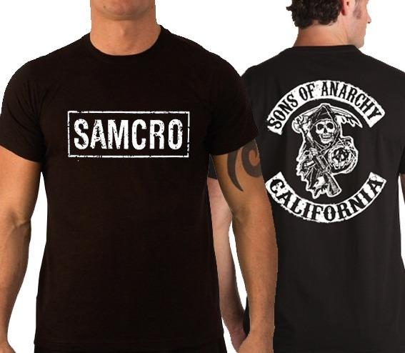7a5cf8ba46812 Camiseta Sons Of Anarchy Samcro Soa Filhos Da Anarquia - R$ 36,90 em ...