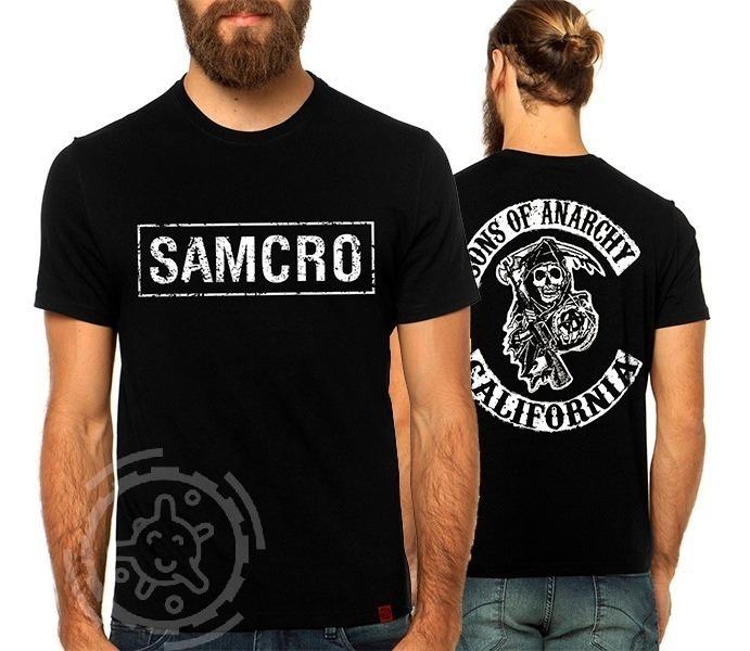62e536eccdb9b Camiseta Sons Of Anarchy Samcro, Soa, Filhos Da Anarquia - R$ 34,50 ...