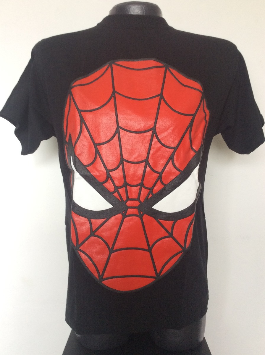 Camiseta Spiderman Mascara Superheroes Rock Metal Anime -   24.990 ... ca9fbff72a489