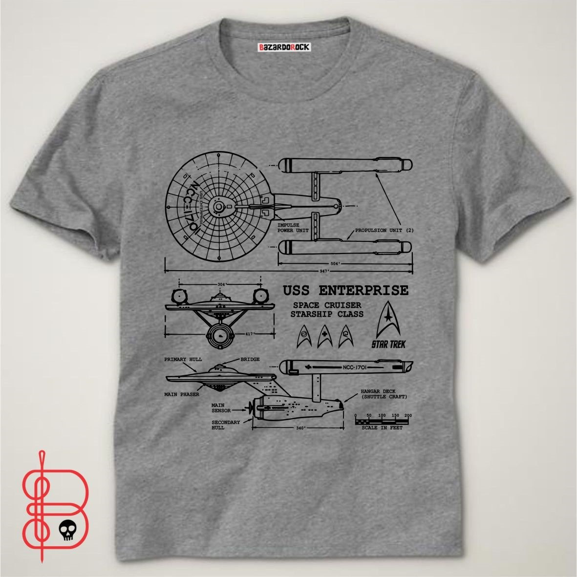 f5b8767fd790b camiseta star trek - enterprise - bazar do rock. Carregando zoom.