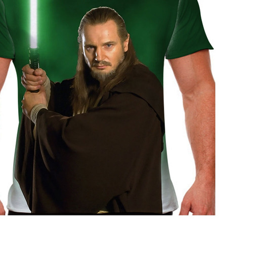 camiseta star wars qui gon jinn masculina