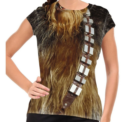 camiseta star wars traje chewbacca baby look