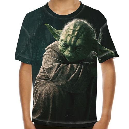 camiseta star wars yoda infantil
