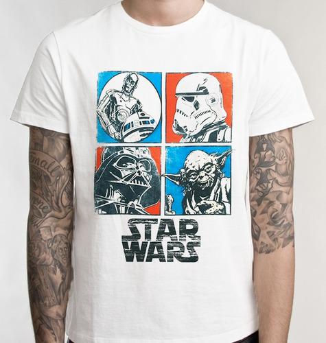 camiseta stars wars personagens camisa blusa promoção filme