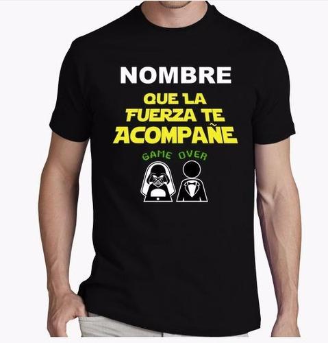 camiseta starwars despedida de soltero personalizada