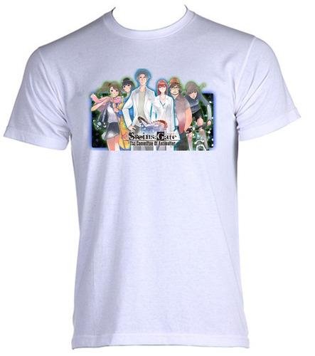 camiseta steins gate anime tempo viagem 03