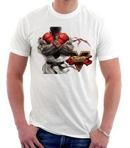 camiseta - street fighter 5 - ryu - games