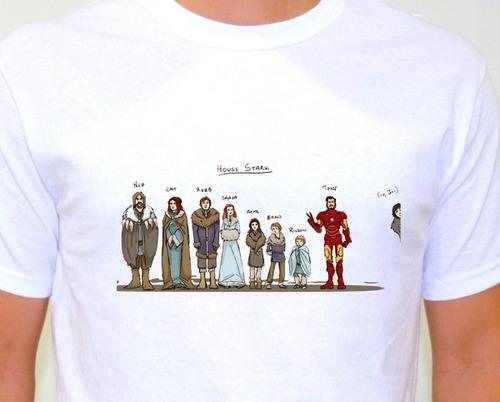 camiseta sublimada house stark