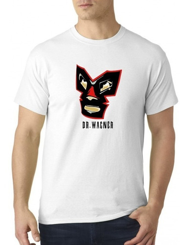 camiseta sublimada lucha libre dr. wagner