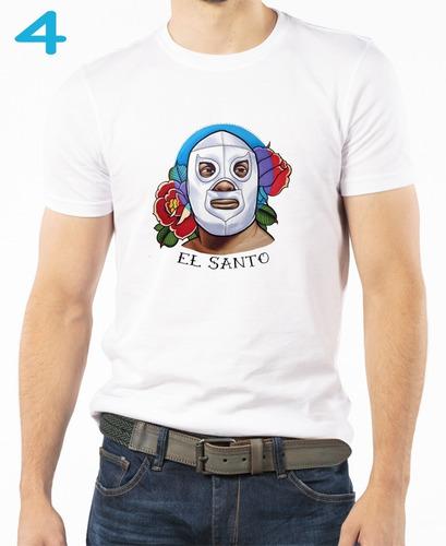camiseta sublimada lucha libre el santo