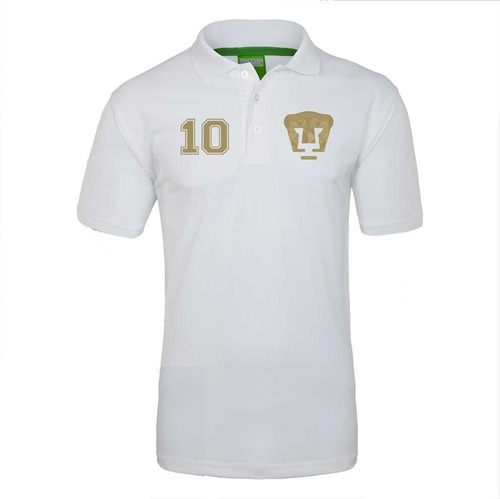 camiseta sublimada polo pumas oro