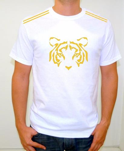 camiseta sublimada tigres blanca