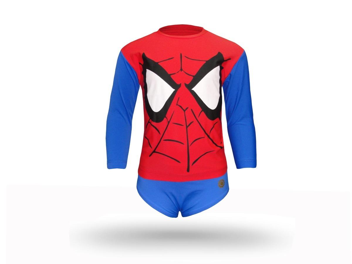 a84514fe5 camiseta + sunga homem aranha com proteção solar uv 50+. Carregando zoom.