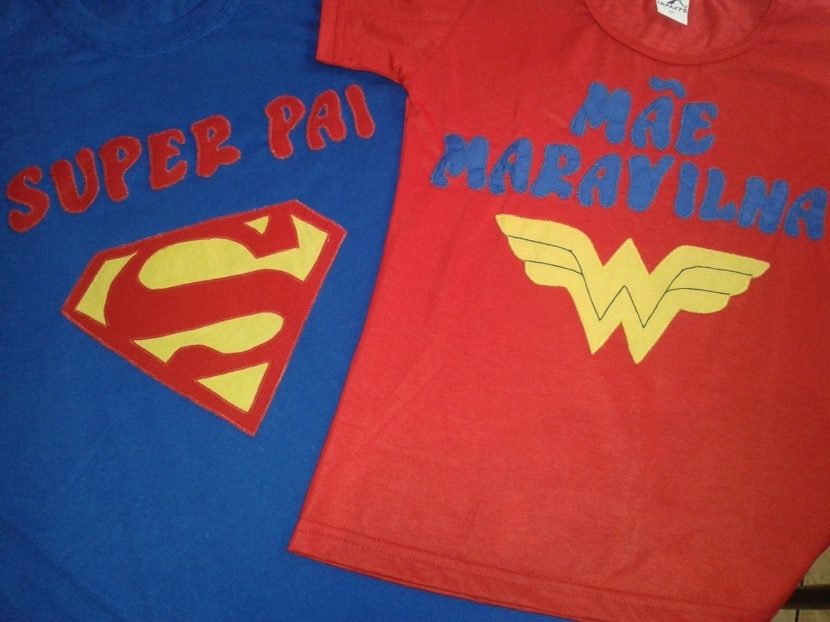 Camiseta Super Homem  Mulher Maravilha Adulto Personalizada - R  118 ... a38c809757363