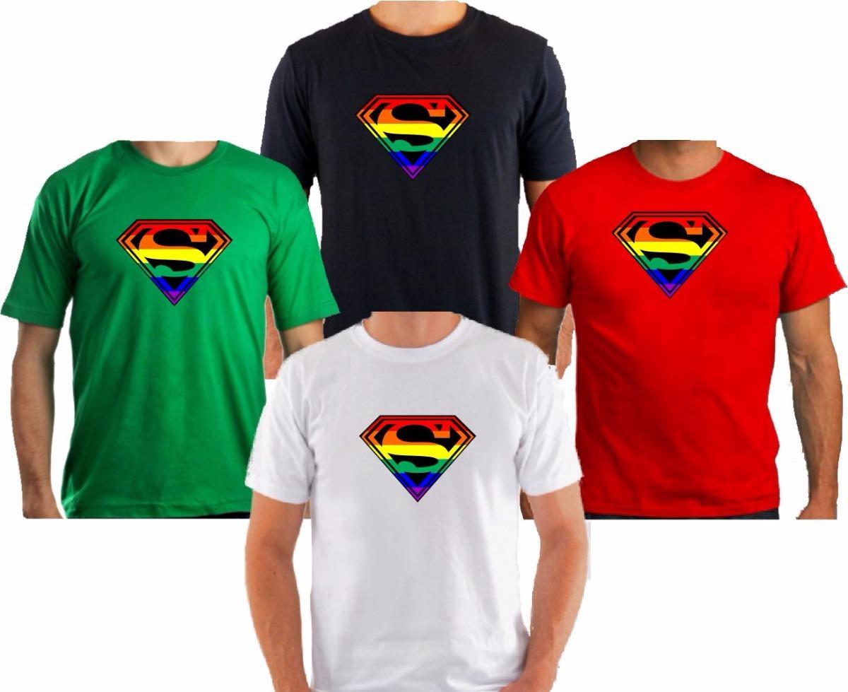 Camiseta Super Lgbt Gls Gay Heróis Bandeira - R  38 f28366bf15ba5