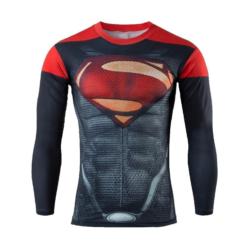 b52f462cba camiseta super man compressao liga justiça longa uv dryfit. Carregando zoom.