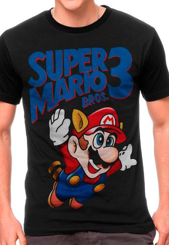 camiseta super mario 3 blusas moletom regata games geek nerd