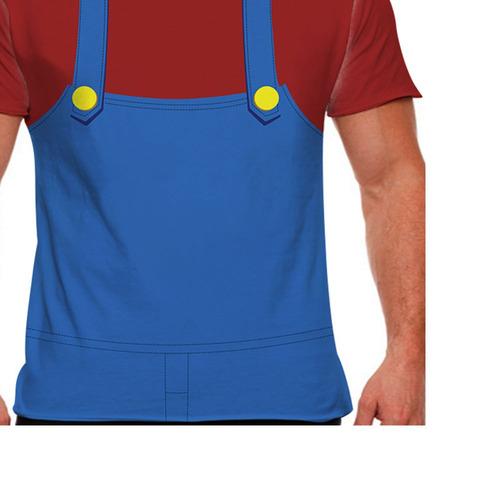 camiseta super mario traje mário masculina