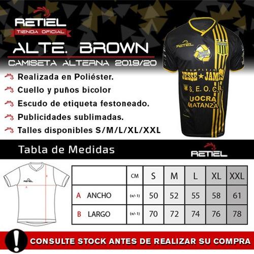 camiseta suplente almirante brown retiel 2019/20