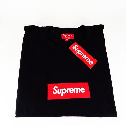 camiseta supreme box tee tecido tubular importada