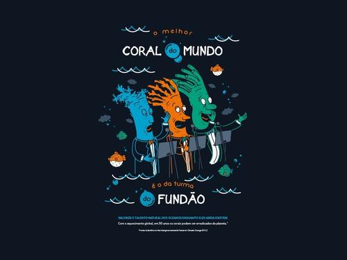 camiseta sustentável vegana - coral babylook