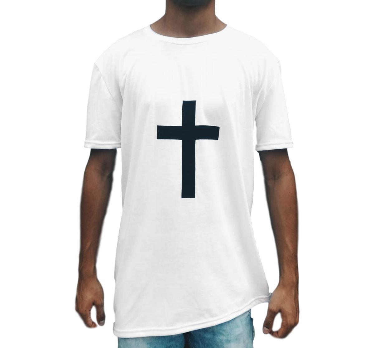 abe87bfbb camiseta swag longline oversized blusa camisa com cruz. Carregando zoom.