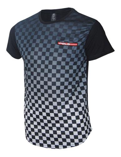 camiseta swag sublimada com estampa xadrez