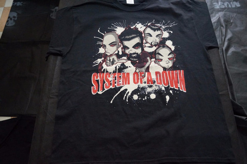 camiseta system of a down importada rock activity talla xl