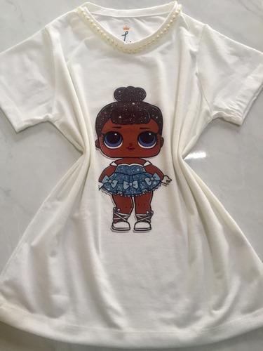 camiseta t shirt infantil menina boneca lol surprise pérola