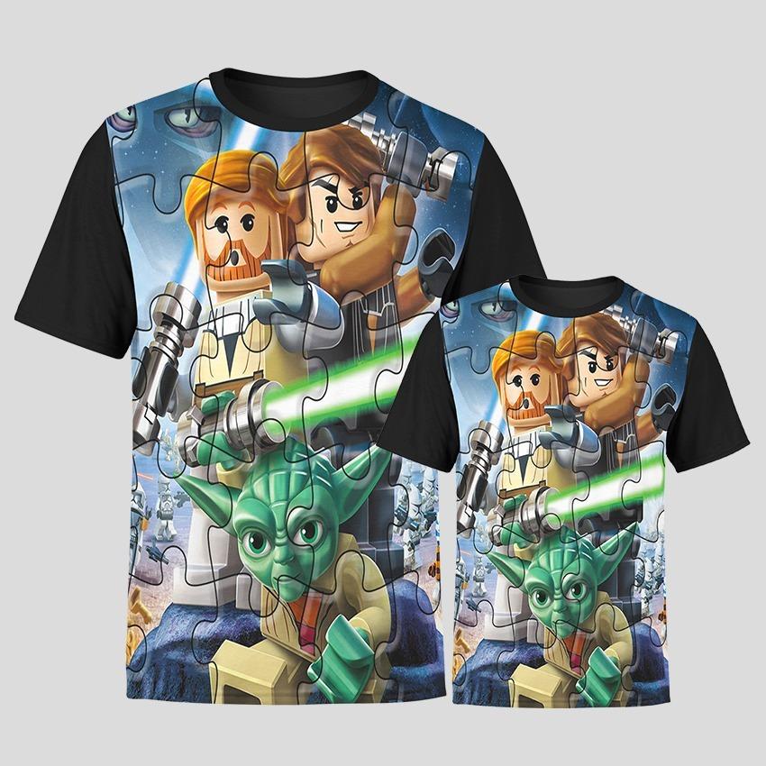 abb7438fc398cd Camiseta Tal Pai Tal Filho Star Wars Lego