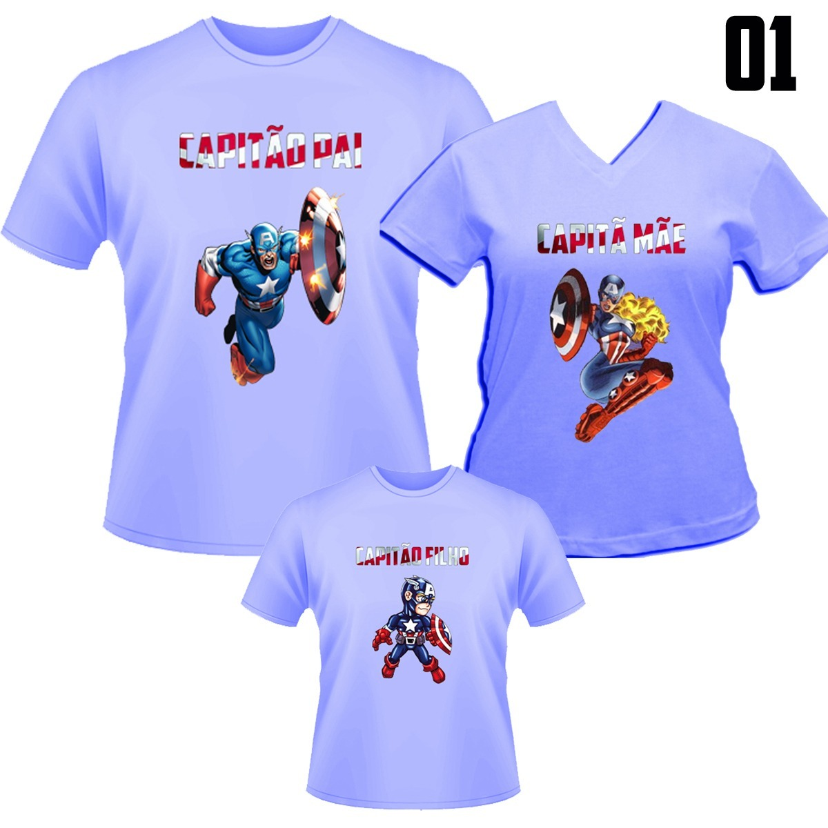 bbb9aa2975252a Camiseta Tal Pai, Tal Mãe Tal Filho - Capitão América