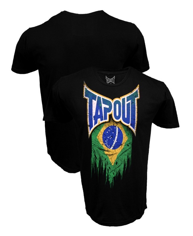 Ufc Tapout 2: Camiseta Tapout World Collection Brazil Ufc