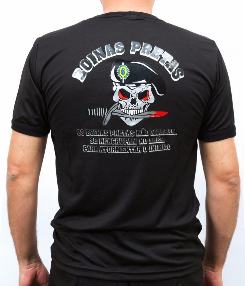 Camiseta Tática Boinas Pretas cce71a0caf6