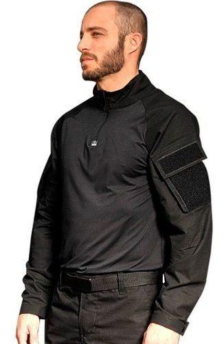 camiseta tática manga longa airsoft uva bravo combat shirt