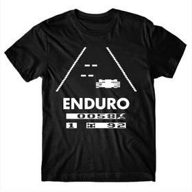 Camiseta Tema Jogo Atari Enduro Geek Nerd Gamer