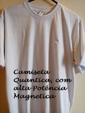 camiseta terapêutica magnética de metal raro 100% algodão