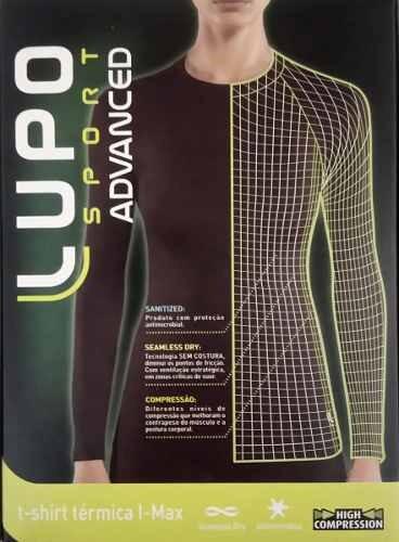 a498e70ce6352 Camiseta Térmica Feminina Manga Longa Segunda Pele Lupo - R  101