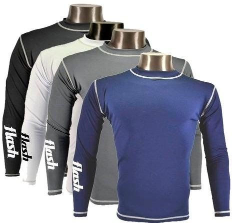 camiseta termica manga larga-flash-oferta!!