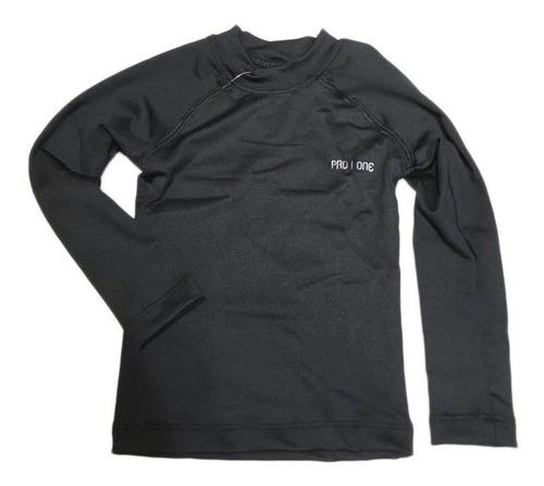 camiseta térmica manga larga niños pro one abrigo invierno