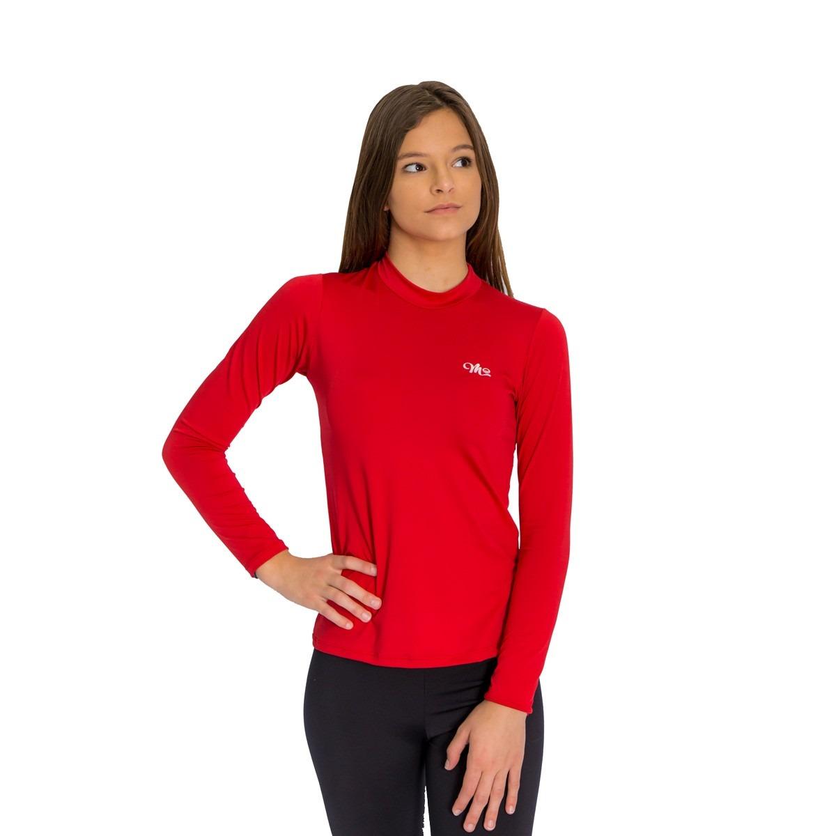 camiseta térmica manga longa feminina gola alta vermelha. Carregando zoom. fa3a0eee56a0b