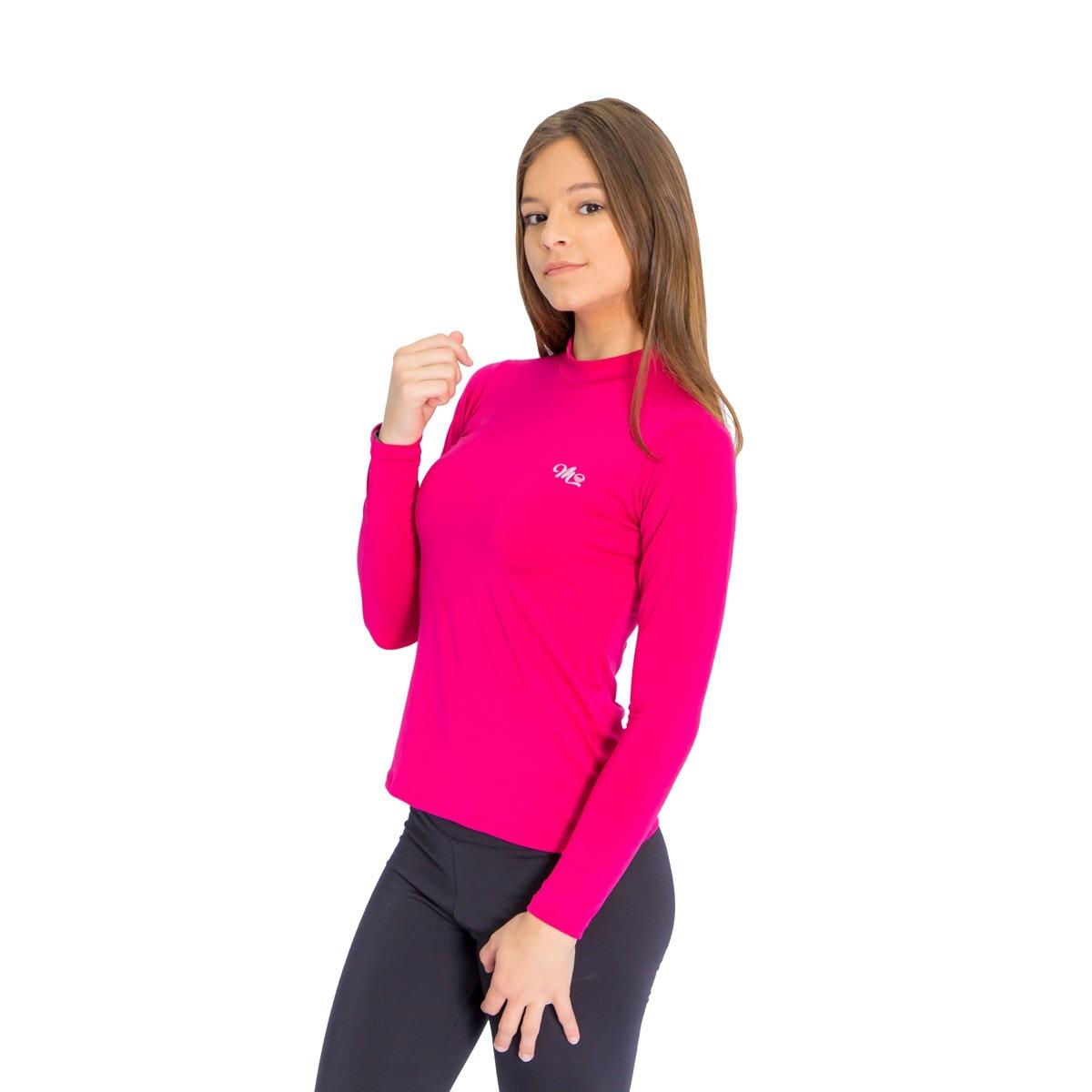 camiseta térmica manga longa feminina pink compressão. Carregando zoom. 0db42933384a7