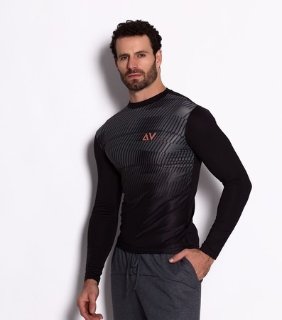 Camiseta Térmica Masculina Manga Longa Para Ciclismo. - R  69 b25f286febef2